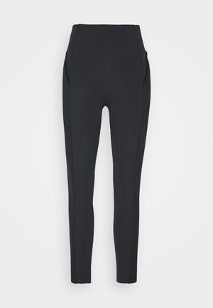 YOGA 7/8 - Tights - black/smoke grey