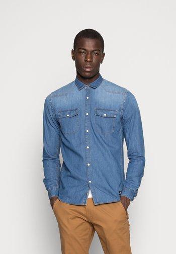 Skjorta - stone blue denim
