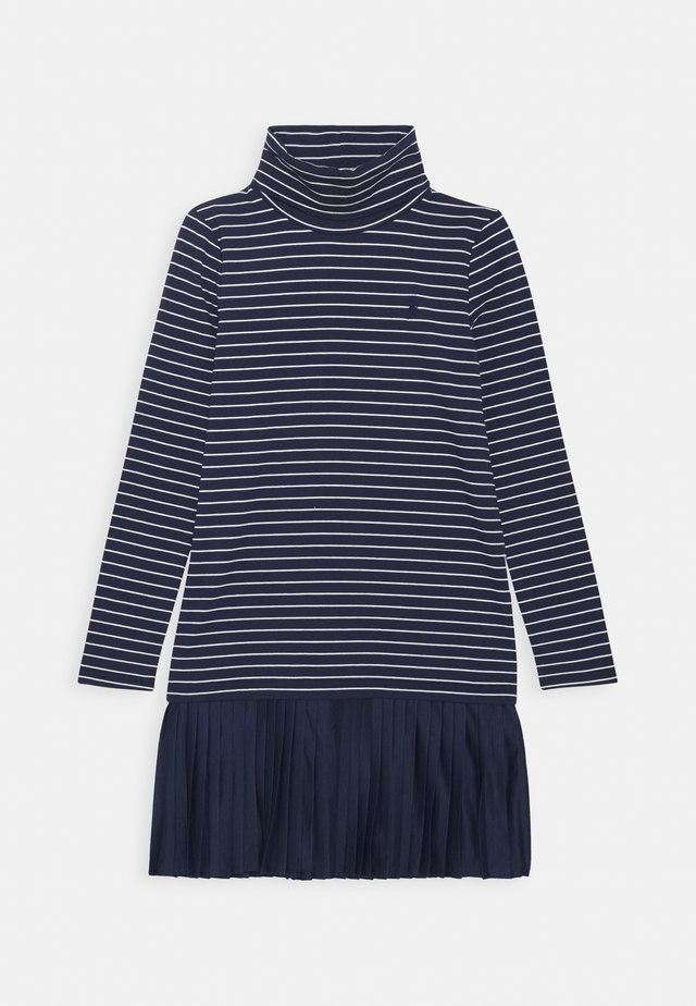 TURTLENECK DRESSES - Vestito di maglina - french navy