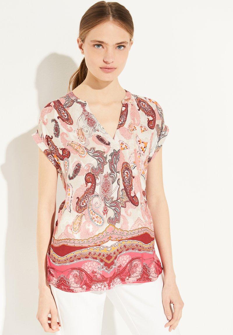 comma - Print T-shirt - rose summer paisley