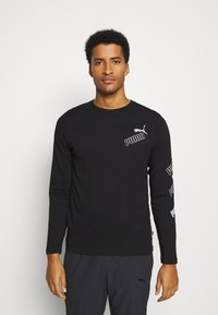 Puma - AMPLIFIED TEE - Long sleeved top - black - 0