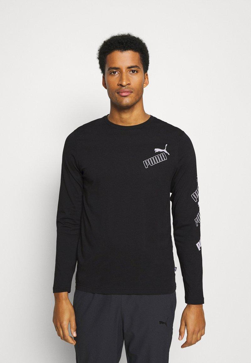 Puma - AMPLIFIED TEE - Long sleeved top - black