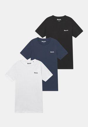 ERRIDGE 3 PACK - T-paita - black/white/navy