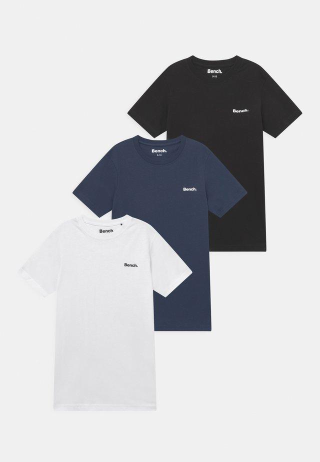 ERRIDGE 3 PACK - T-shirt - bas - black/white/navy