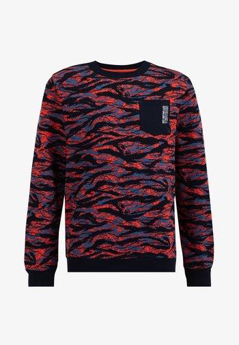 Sweatshirt - red, blue, black
