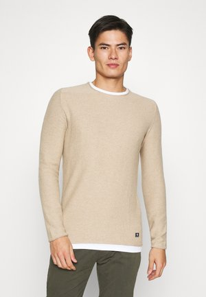 STRUCTURE LIGHT WEIGHT - Pullover - sahara dust beige melange