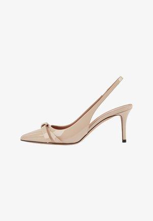 EDDIE SLING 70 BOW-P - Classic heels - light beige