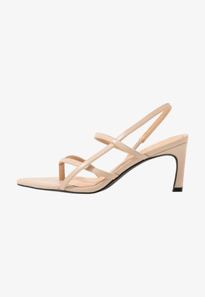 POINTY SOLE TOE STRAP  - Sandály - nude/beige
