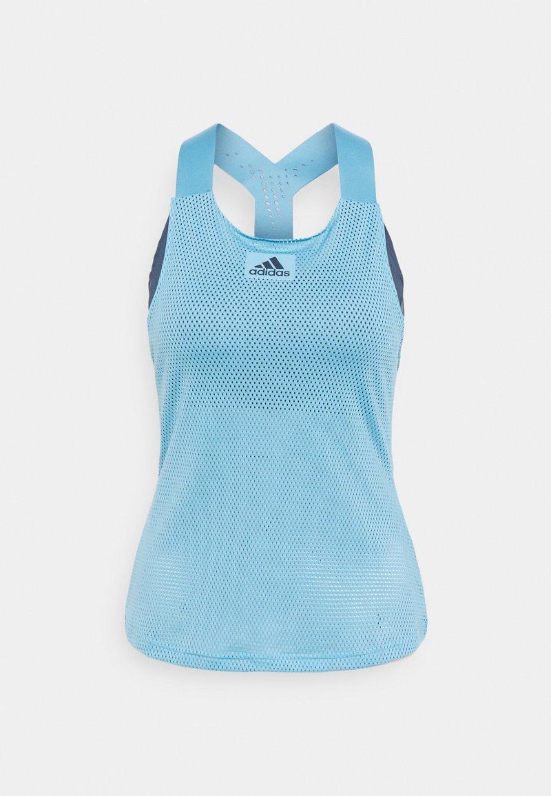 adidas Performance - TANK - T-shirt sportiva - hazel blue/crew navy