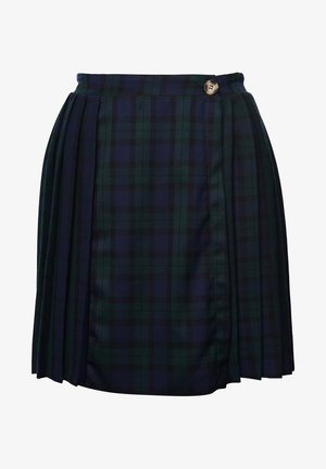 MOLLY - Pleated skirt - navy check