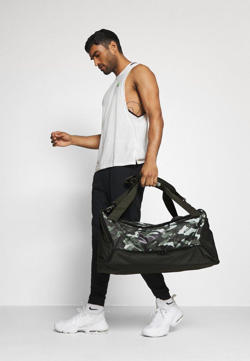Nike Performance - DUFF - Sports bag - white/sequoia/cool grey