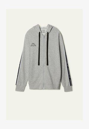 MIT KAPPA KAPUZE - Zip-up hoodie - grigio melange chiar