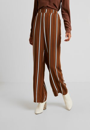 Trousers - toffee/black combo