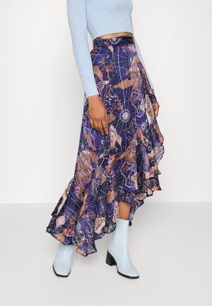 WRAP OVER SKIRT - Wrap skirt - dark blue