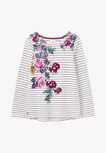 Long sleeved top - floral cremefarben