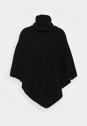 TRIANGLE POLO PONCHO - Ponczo - black