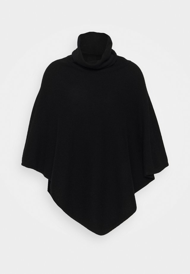 TRIANGLE POLO PONCHO - Poncho - black