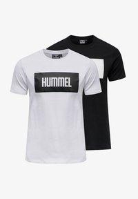 Hummel - 2-PACK - Print T-shirt - black/white - 0