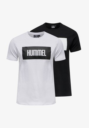 2-PACK - T-shirt med print - black/white