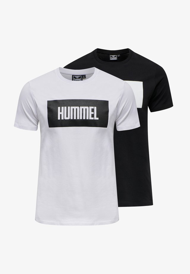 2-PACK - Print T-shirt - black/white