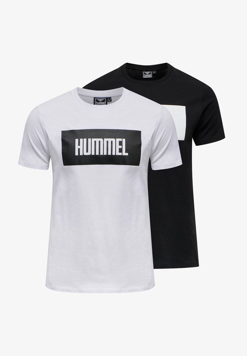 Hummel - 2-PACK - Print T-shirt - black/white