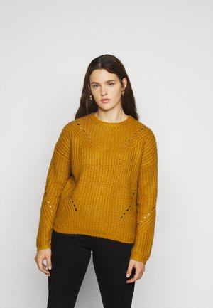 VMPACA POINTELLE O NECK  - Jumper - buckthorn brown/white melange