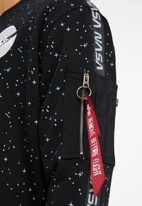 Alpha Industries - NASA TAPE - Sweatshirt - black - 5