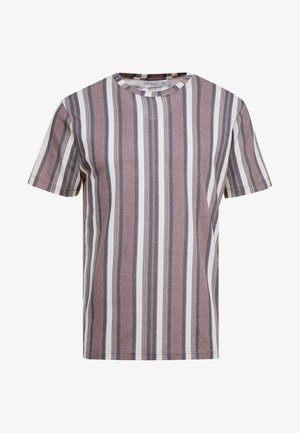 STRIPE SNIT - Print T-shirt - burg