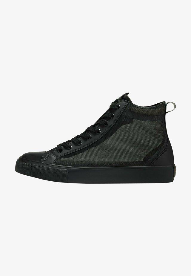 NAKED MID TOP - Sneakers hoog - black
