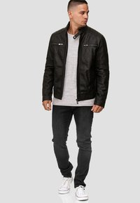 INDICODE JEANS - GERMO - Leather jacket - black - 1