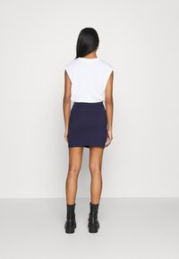 Even&Odd - Basic mini skirt with slit - Minisukně - blue - 2
