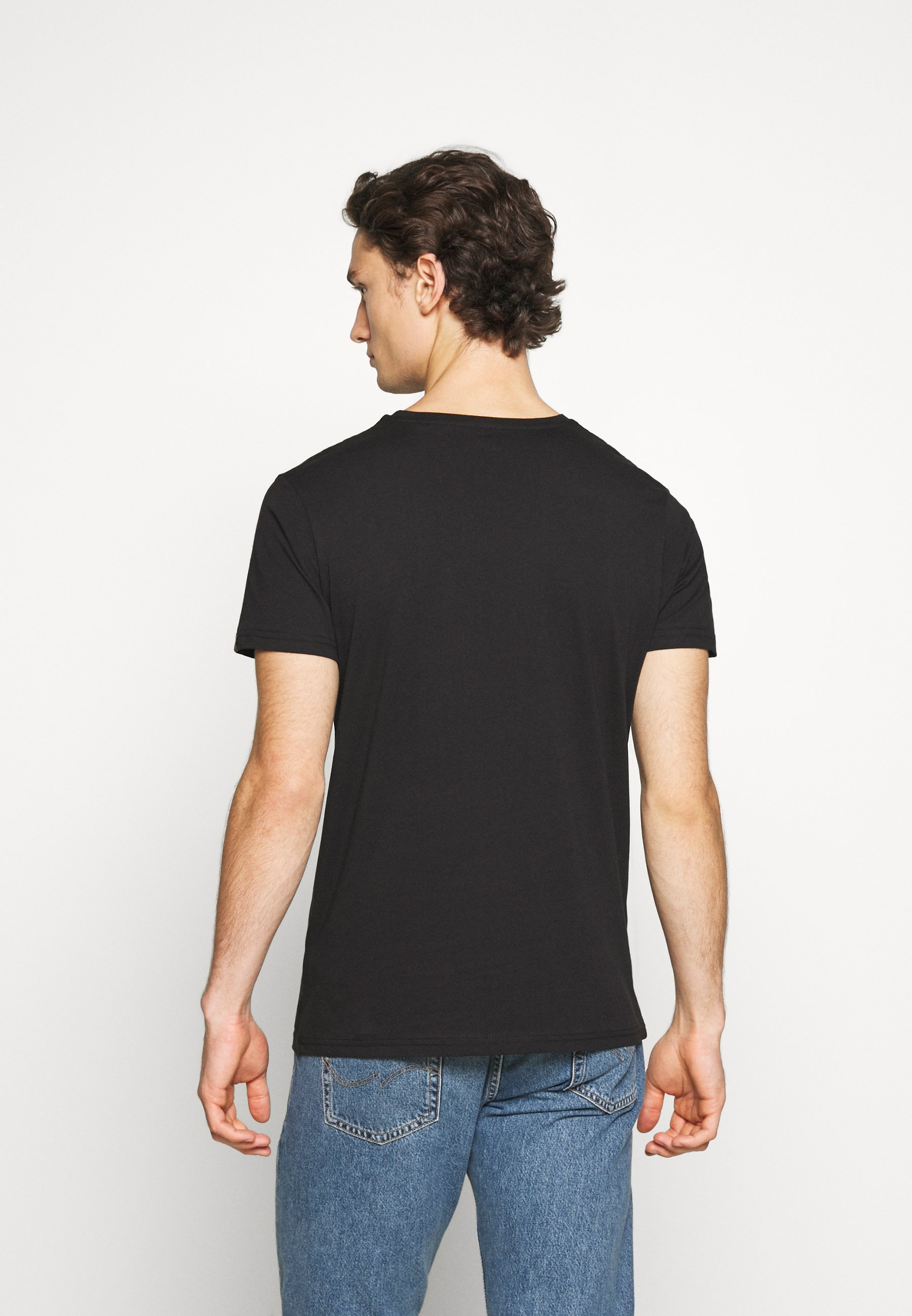 Alpha Industries BASIC REFLECTIVE - Print T-shirt - black jA1FT