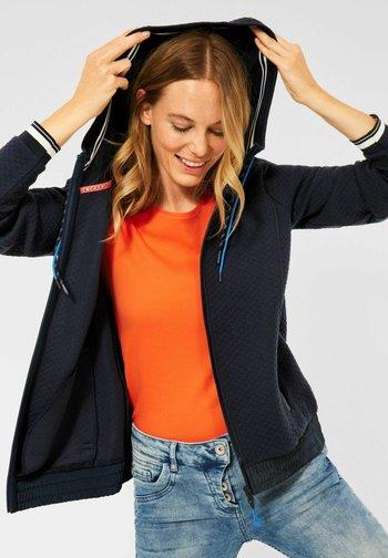 MIT STRUKTUR - Zip-up sweatshirt - blau