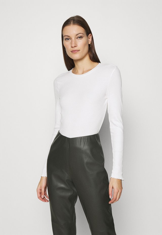 SLFANNA CREW NECK TEE  - Long sleeved top - snow white