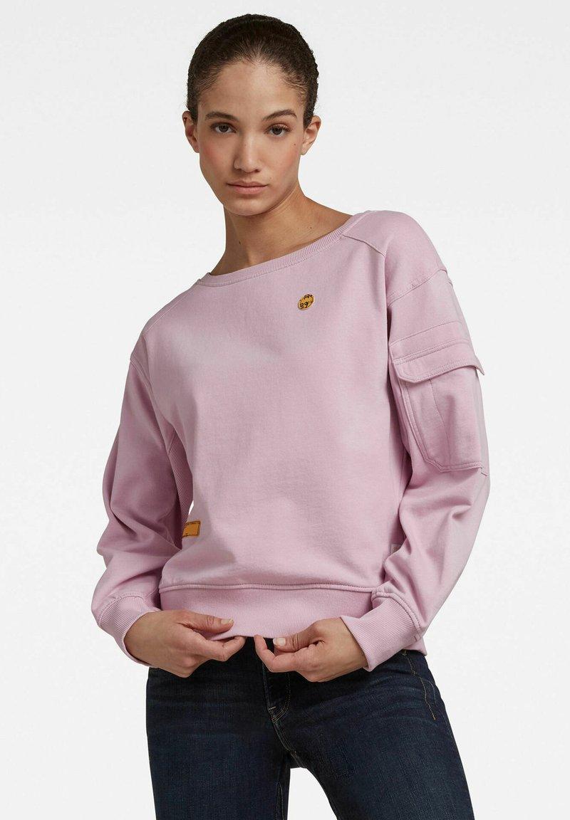 G-Star - BOAT NECK - Sweatshirt - lavender pink