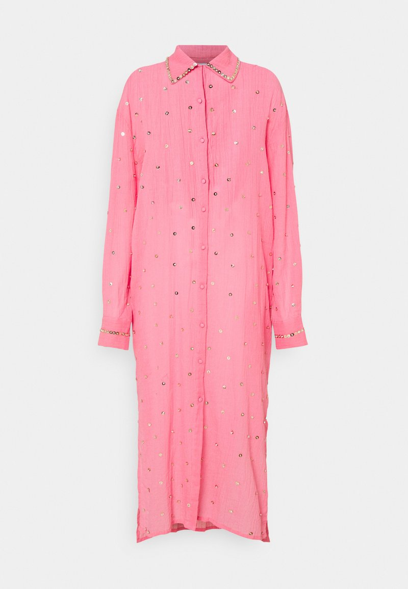MANÉ - SEREN SHIRT DRESS - Sukienka koszulowa - coral/gold
