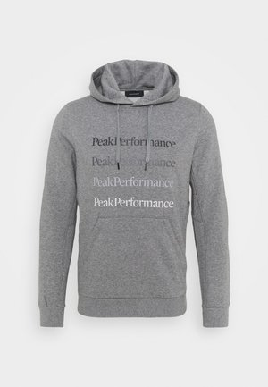 GROUND HOOD - Hoodie - grey melange