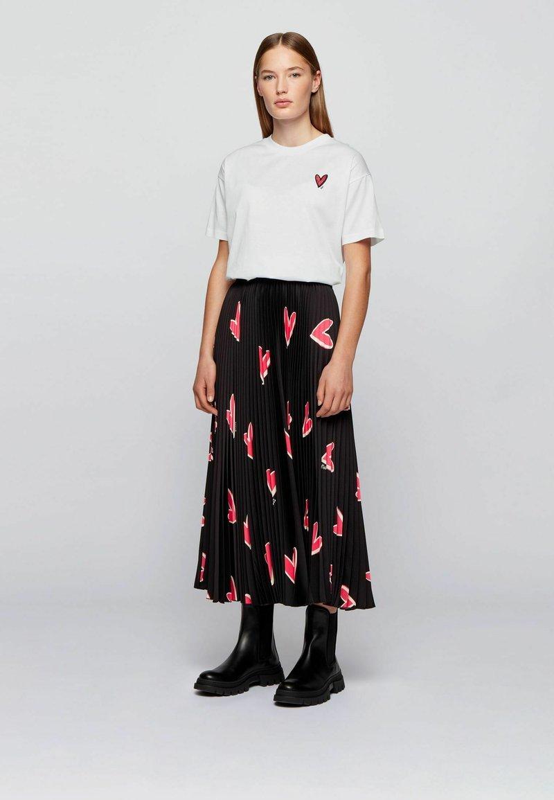 BOSS - ELENAS - Print T-shirt - white