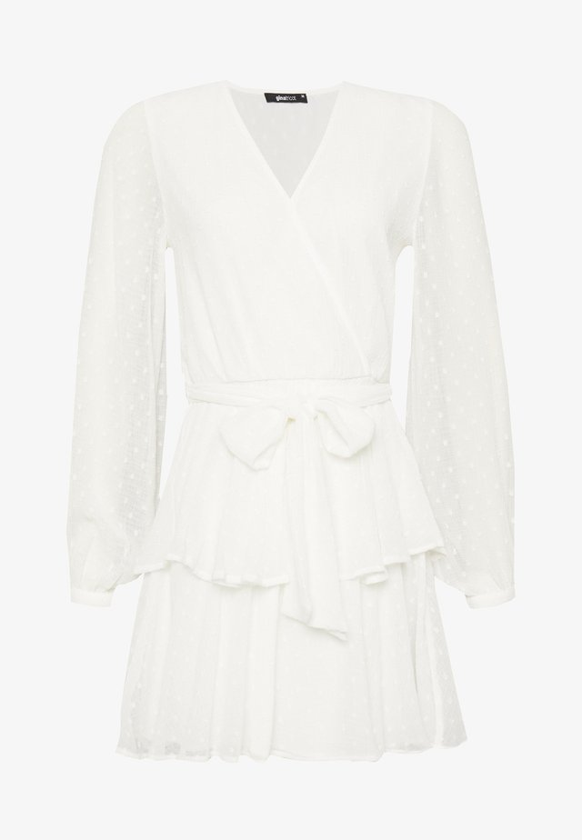 LUCY FRILL DRESS - Day dress - offwhite