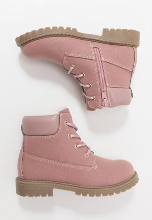 Lace-up ankle boots - old pink