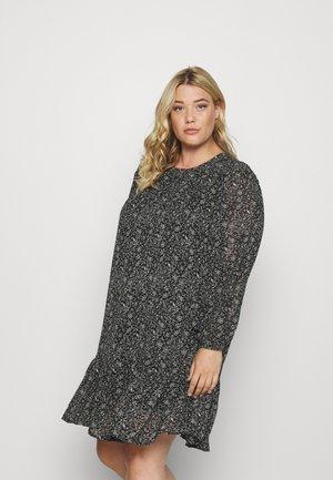CARSTAR FRILL SHORT DRESS - Day dress - black
