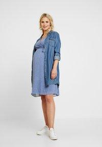 Glamorous Bloom - PIN SPOT WRAP DRESS - Denní šaty - blue - 2
