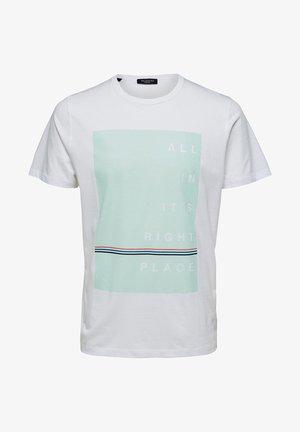 T-shirt med print - bright white 1
