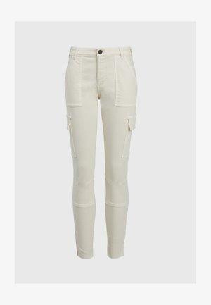 DURAN SKINNY - Cargo trousers - white