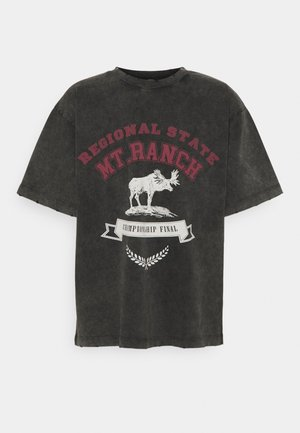 WASHED REGIONAL STATE - T-shirts print - black
