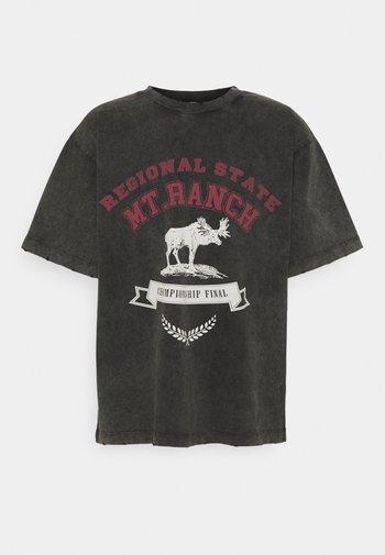 WASHED REGIONAL STATE - Print T-shirt - black