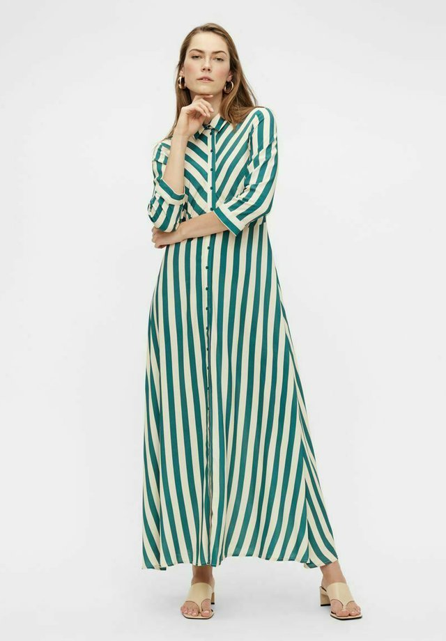 YASSAVANNA STRIPE LONG DRESS - Maxi dress - green