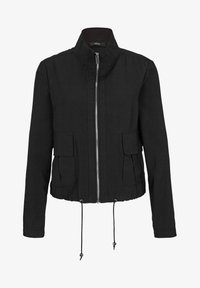 s.Oliver BLACK LABEL - MIT DURCHZUGKORDEL - Summer jacket - true black - 5