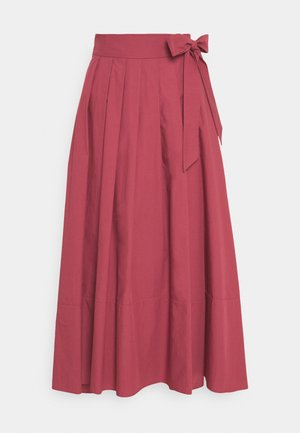 OBLARE - Pleated skirt - dunkelmauve