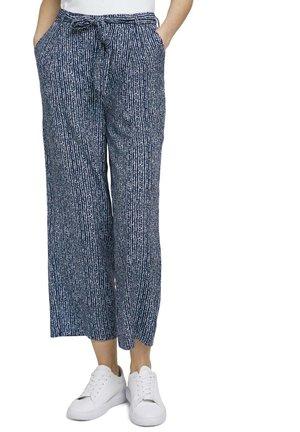 Trousers - blue minimal design vertical